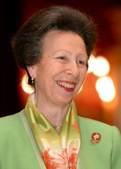 Princess Anne smiles brightly at the Christmas party.