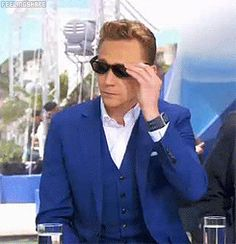 You're just doing that on purpose now... What a tease. :P *gif* #TomHiddleston