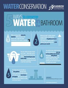 * 5 Ways to Conserve Water in the Bathroom   Rainbow International