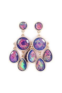 Delphi Chandelier Earrings in Enchanting Blues on Emma Stine Limited