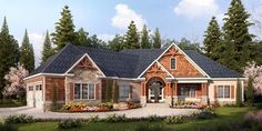 House Plan 58253 | Craftsman    Plan with 3337 Sq. Ft., 4 Bedrooms, 4 Bathrooms, 2 Car Garage