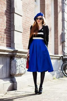 Pleated Circle Midi Skirt | shein | Pinterest