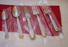 """Christian Dior Gaudron Gold Accent place setting """"choose from Japan or Korea""""  (Three 5-piece place settings)  1990 - 1999 ($250 per setting on replacements)"""