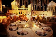 All White Outdoor Indian Engagement Party - 2