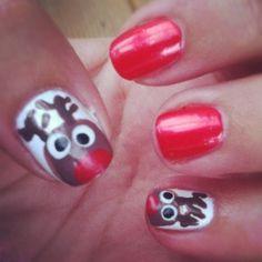 Reindeer Nail Art! Christmas Nails!