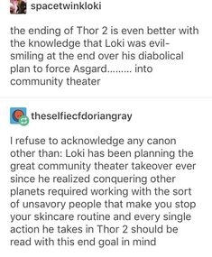 Thor 2 - Loki's Plan for the Asgardian Community Theater - 1/2