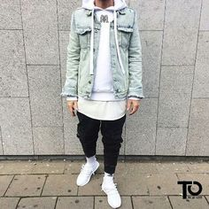shoes: Adidas Ultra Boost Pants: Zara Tee: Zara Hoodie: MaisonRicci  Denim: H&M  ________________________________________________ Trillest outfit by @giannisalace