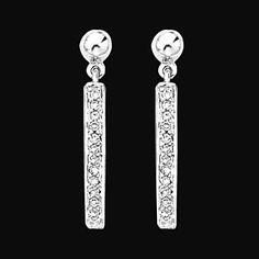 1.5 carat diamonds hanging earrings white by diamondsfromnewyork, $2,085.00