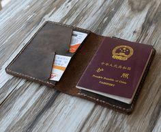 Items similar to Leather Passport Cover - Leather passport Wallet 105 / Men passport case / Leather Passport holder / Passport keeper on Etsy Leather Passport Wallet, Leather Wallet, Leather Keychain, Leather Gifts, Passport Cover, Etsy, Distressed Leather, Gray Color, Passport Online