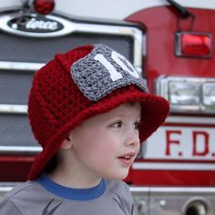 What a cute play hat for a little boy!!