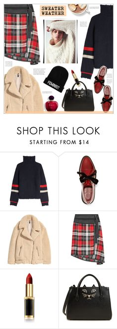 """""""Sweater weather"""" by anne-irene ❤ liked on Polyvore featuring Zadig & Voltaire, Marc by Marc Jacobs, Public School, L'Oréal Paris, Charlotte Olympia, Boohoo and sweaterweather"""