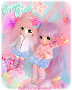 Kiki Kinoko Juice Dolls Meet Cotton Candy Machine ~ Drop Dead Cute - Kawaii for Sexy Ladies