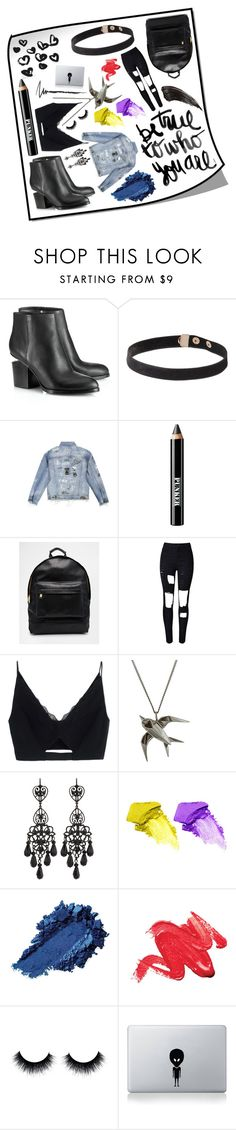 """""""Pretty Post"""" by zooboolakiss ❤ liked on Polyvore featuring Alexander Wang, Ardency Inn, Mi-Pac, WithChic, Versace, Jose & Maria Barrera, NARS Cosmetics and Vinyl Revolution"""