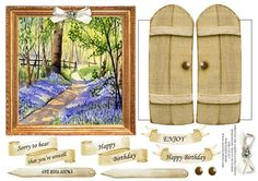 Bluebell Woods by Tracey Hutchins: perfectly lovely scene that i just knew would be perfect for my through the garden gates collections
