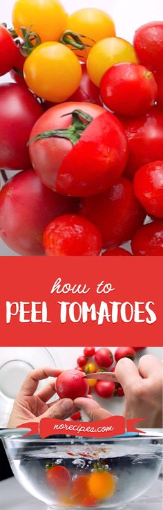 This easy kitchen hack to peel tomatoes makes them practically peel themselves. #kitchenhacks #cookingtips #tomatoes
