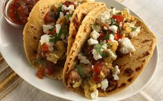 Chorizo and Potato Breakfast Tacos