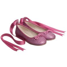 4b051f26e0fd16 ANGEL'S FACE Dark Pink Glitter Ballet Pumps Frill Tops, Kid Shoes, Ballet  Shoes,