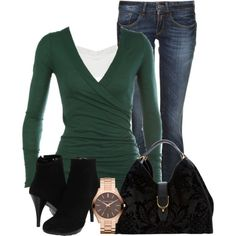A fashion look from November 2012 featuring Replay jeans, Lumiani ankle booties and Gucci shoulder bags. Browse and shop related looks.