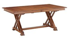Amish Transitional Trestle Dining Table Rectangle Solid Hardwood