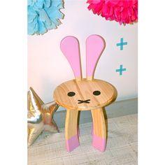 Perfekt Club Soda Designs | BUNNY Kids Chair Pink