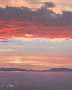 Frederic Edwin Church - Schoodic Peninsula from Mount Desert at Sunrise (detail).