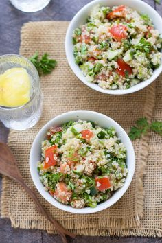 The ultimate summer salad >> Quinoa Tabbouleh
