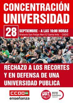 Concentración: Rechazo a los recortes y en defensa de una Universidad Pública.