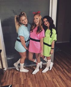 Today we are introducing halloween costume ideas college girl 2018 in front of you. So, you will be able to get best halloween costume ideas 2018 for Three Person Halloween Costumes, Powerpuff Girls Halloween Costume, Cute Group Halloween Costumes, Cute Costumes, Halloween Outfits, 90s Costume, Zombie Costumes, Halloween College, Halloween Couples