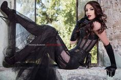 Gothic and Amazing — Model: Miss Andrea Dolores Photo by: Predrag...