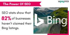 Well, #Bing is Google's main competitor, and if you don't claim your #business there, you could be missing out on potential #traffic.  Want some help in listing your #business on Bing?   Reach us now 👉 sales@woosper.com Google S, Digital Marketing Services, Seo, Business, Store, Business Illustration