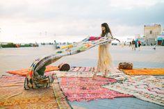 rug love at Semikah Textiles vintage morrocan