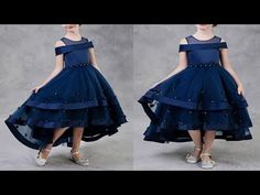 DIY Designer Baby Frock Cutting and Stitching Full Tutorial Party Wear Frocks Designs, Kids Party Frocks, Baby Frocks Party Wear, Baby Frocks Designs, Kids Frocks Design, Little Girl Pageant Dresses, Girls Dresses Sewing, Baby Girl Party Dresses, Frocks For Girls