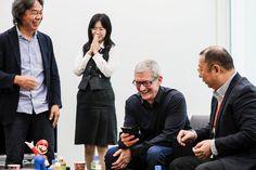 Apple visita Nintendo en su viaje a Japón # Actualmente Tim Cook se encuentra de viaje por Japón, y ha aprovechado el viaje para cumplir con los ejecutivos de Nintendo y se ha pasado por sus instalaciones para hablar con el creador de Mario ... »