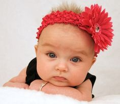 this one looks like she's just about to lose all patience with the photographer - there are also diy instructions for making the very cute headband, just in case you can take your eyes off that amazing face for a second or two Baby Headband Tutorial, Diy Baby Headbands, Flower Headbands, My Little Girl, My Baby Girl, Baby Love, Cute Kids, Cute Babies, Baby Kids