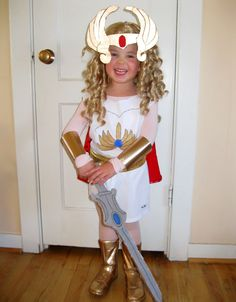 A Mighty Girl Halloween: 50 Mighty Girls in Costume Homemade Costumes, Cool Costumes, Costume Ideas, Diy Carnival, Carnival Costumes, Last Halloween, Girl Halloween, She Ra Costume, Mighty Girl