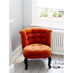 Good vanity chair!  Velvet Tub Chair - available in several colours from Oliver Bonas