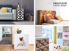 DIY Möbel selbst gestalten mit creatisto #Möbelfolien / #Klebefolien / #Designfolien / selbstklebenden Folien - mach deine Wohnung zu Deinem Zuhause!