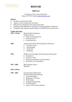 This A4 size printable resume template puts the emphasis on ...