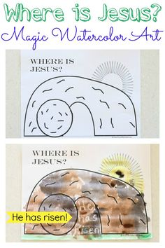 """Where is Jesus?""  Magic Watercolor Art Activity"