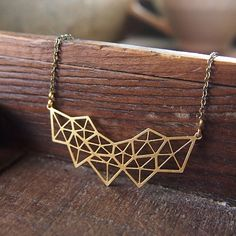 Geometric crystal cluster collar necklace // by curiousoddities