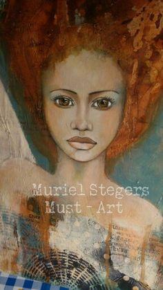 Close up ♡ Mixed media art by Muriel Stegers - Must Art