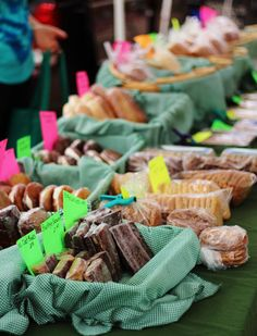 Fresh Baked Goods at the downtown Farmer's Market!!
