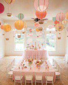"135 Gostos, 4 Comentários - A Festa que eu quero  (@afestaqueeuquero) no Instagram: "" Que festa lindaaa , tema balões de ar quente  Imagem Pinterest #afestaqueeuquero #festalinda…"""