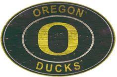 NCAA Oregon Ducks Heritage Oval Wall Sign
