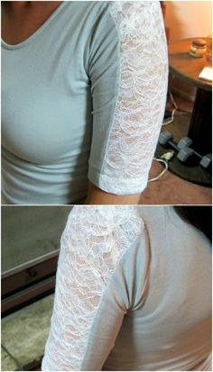 68 Fun and Flirty Ways to Refashion Your T-Shirts – Neue Ideen Umgestaltete Shirts, Diy Cut Shirts, T Shirt Diy, Band Shirts, T-shirt Refashion, Clothes Refashion, Diy Kleidung Upcycling, T Shirt Remake, Altered T Shirts