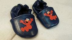Baby shoe size 1 navy blue Sesame Street Elmo moccs excellent condition #elmo #blackfriday2015