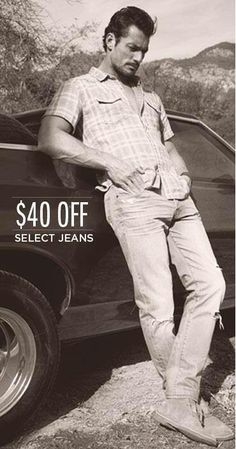 David Gandy - Teaser pic from the new Lucky Brand (@Aaron Lucky) summer campaign
