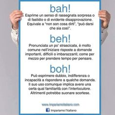 Le interiezioni bah, beh e boh.  #learningitalian #learnitalian #imparareitaliano #impariamoitaliano
