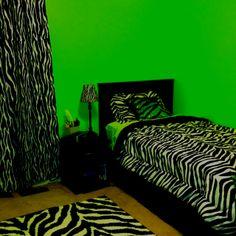 i like zebra stuff like rug,lamp,bed seat,curtain