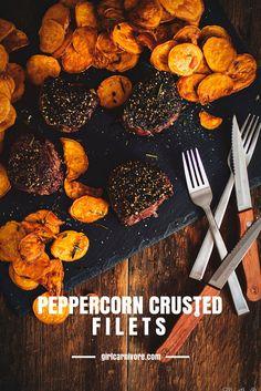 Peppercorn Crusted F